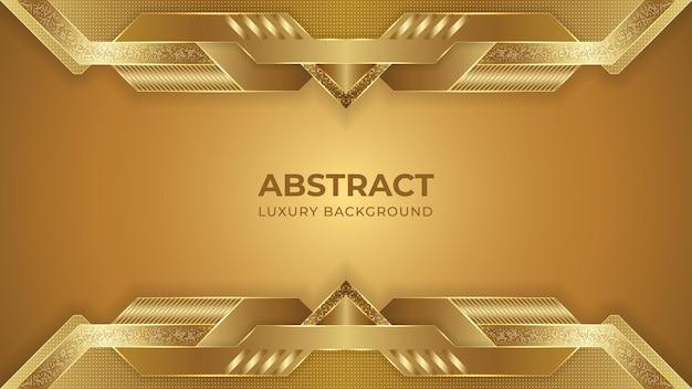 Abstraits design de fond de luxe doré avec des formes géométriques