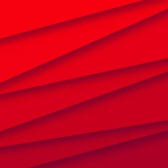 Abstrct papercut étapes vecteur de fond rouge