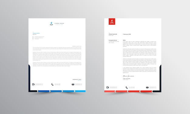 Abtract letterhead design modern business letterhead design design template - images vectorielles