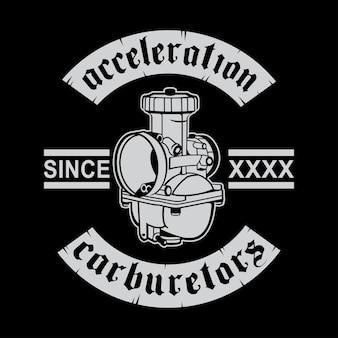 Accélération de la conception du logo du carburateur