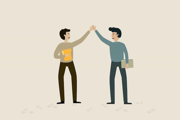 Accepter de contracter avec un homme d'affaires.