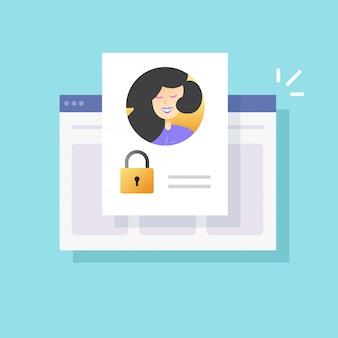 Accès au compte de profil personnel refusé en ligne