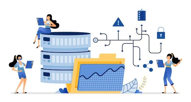 Accès aux bases de données et performances dans la fourniture de services de données réseau et de stockage basé sur des dossiers