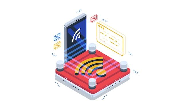 Accès sécurisé aux réseaux wi-fi. connectez-vous aux réseaux publics.