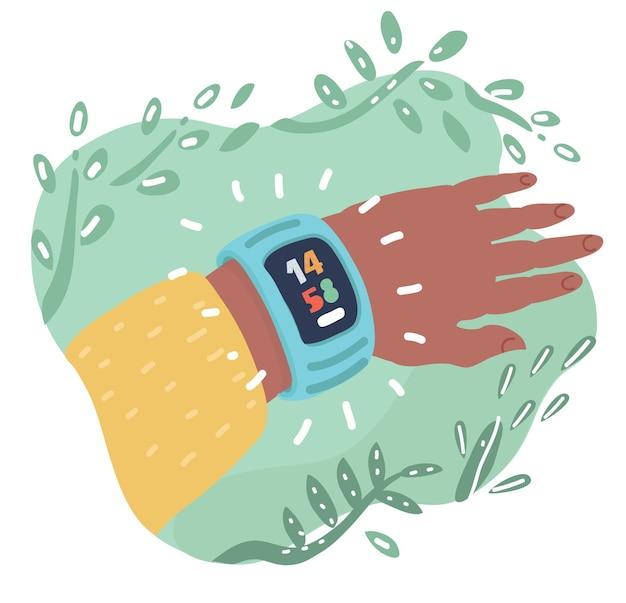 Accessoire portable pour montre intelligente pour le chronométrage