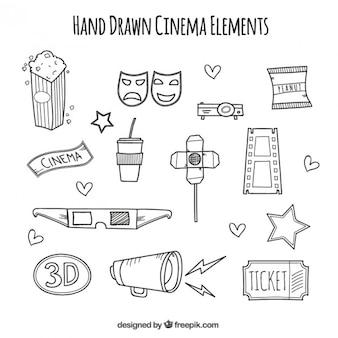 Accessoires audiovisuels dessinés à la main