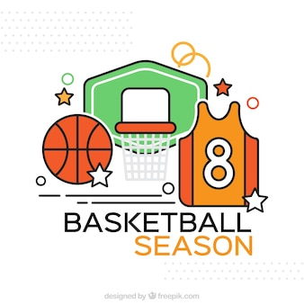 Accessoires de basket-ball fond
