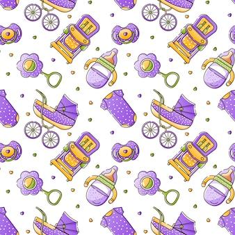 Accessoires de bébé de couleur transparente motif