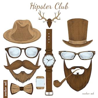 Accessoires de club vintage hipster