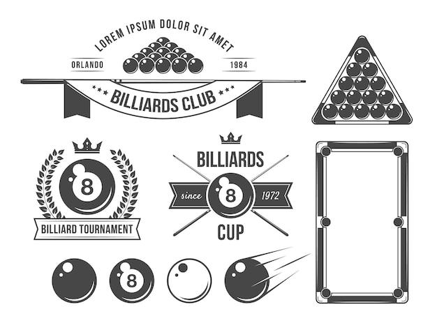 Accessoires et emblèmes de billard