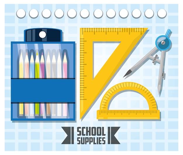 Accessoires outils scolaires pour étudier l'éducation