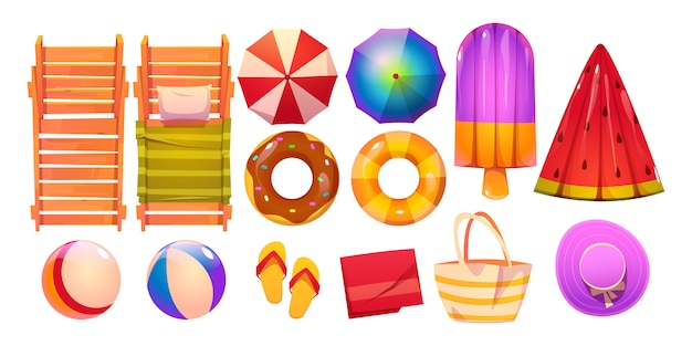 Accessoires de piscine pour le repos d'été