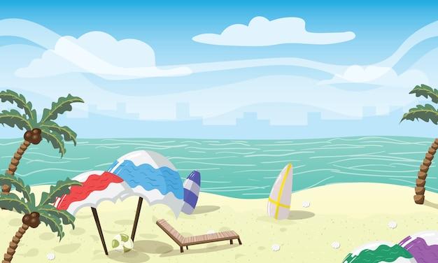 Accessoires de plage colorés