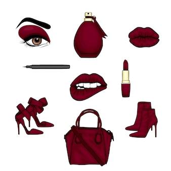 Accessoires pour femmes cosmétiques et chaussures