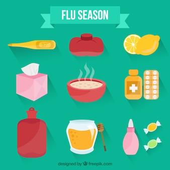 Accessoires de la saison de la grippe