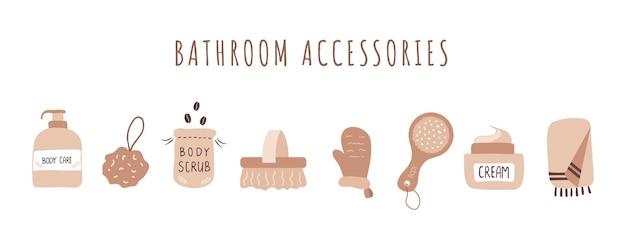 Accessoires de salle de bain. produits biologiques pour peler la peau.
