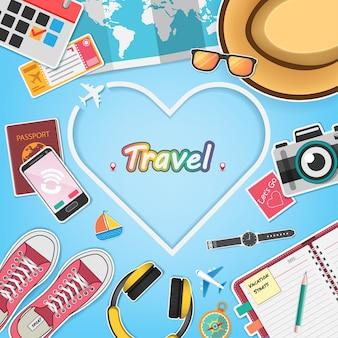 Les accessoires voyagent dans le monde entier.