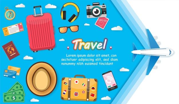 Les accessoires voyagent à travers le monde.
