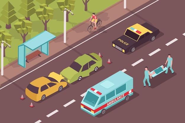 Accident accident isométrique