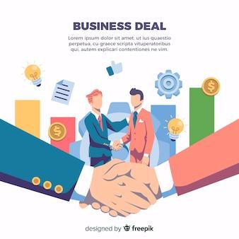 Accord commercial serrant la main