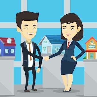 Accord entre l'agent immobilier et l'acheteur.