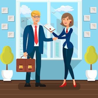 Accord de signature des partenaires commerciaux