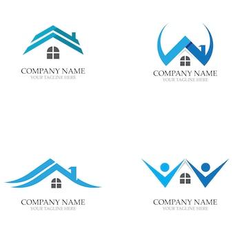 Accueil Logos Et Vecteur De Symboles De Modèle Vecteur Premium