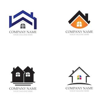 Accueil logos et vecteur de symboles de modèle