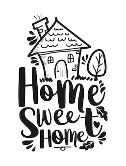 Accueil sweet home lettrage