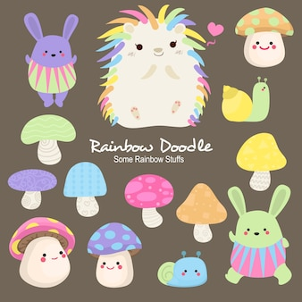 Ace rainbow objects doodle