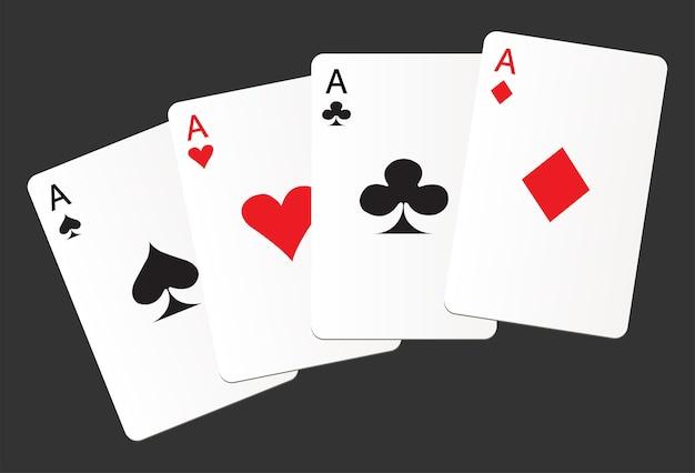 Aces costume cartes coeurs clubs pique diamants icône