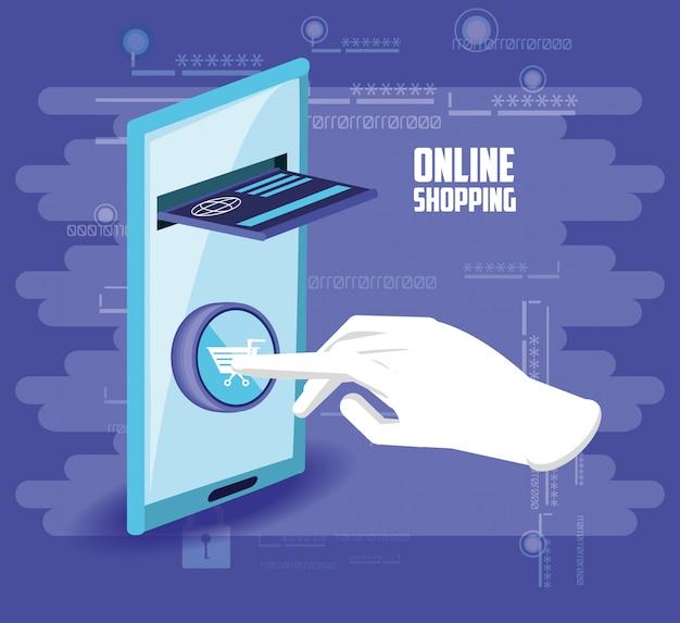 Achat en ligne avec smartphone