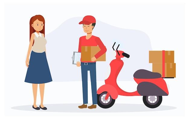 Achats client en ligne et service de livraison.