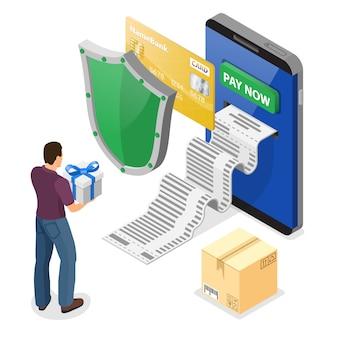 Achats sur internet et concept de paiements en ligne