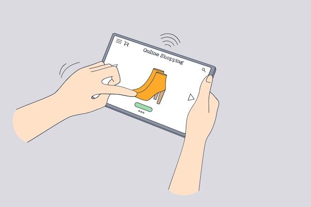 Achats en ligne, achat dans le concept de verrouillage internet