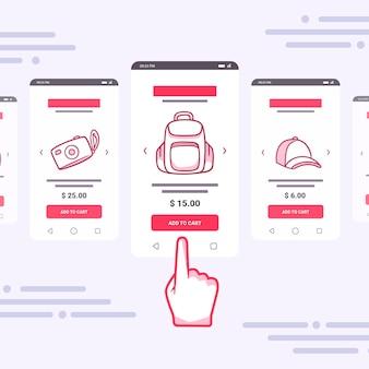 Les achats en ligne ajoutent au concept de voiture