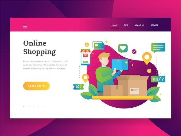 Achats en ligne, marketing mobile et concept d'achat