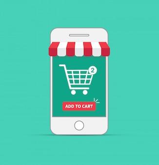 Achats en ligne avec smartphone