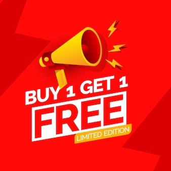 Acheter 1 obtenir 1 modèle de conception de bannière gratuit