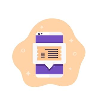 Acheter des billets en ligne avec un téléphone portable