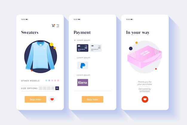 Acheter le concept d'interface en ligne