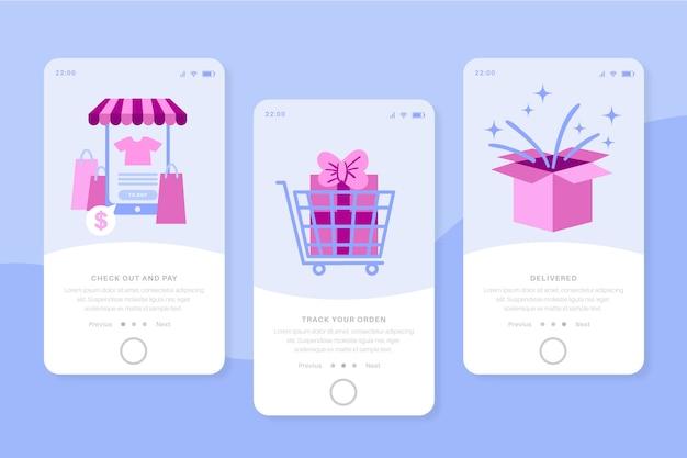Acheter des écrans d'application d'intégration en ligne pour téléphone mobile