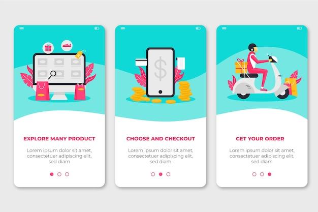 Acheter des écrans d'application d'intégration en ligne