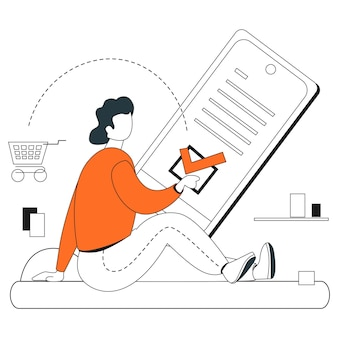 Acheter une ligne plate d'illustration en ligne
