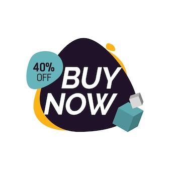Acheter maintenant quarante pour cent de l'écriture