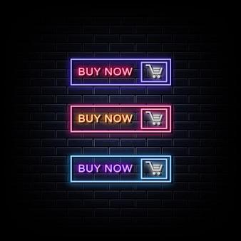 Acheter maintenant style d'enseignes au néon
