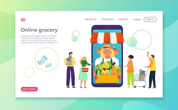 Acheter un produit sur la boutique illustration de service internet de magasin