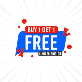 Achetez 1 obtenez 1 modèle de bannière de vente gratuit