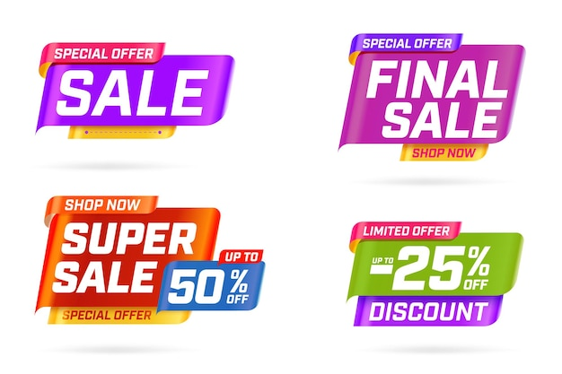 Achetez maintenant des offres spéciales limitées avec un modèle de réduction de vente.