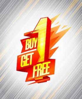 Achetez-en un, obtenez un design de bannière de vente gratuite